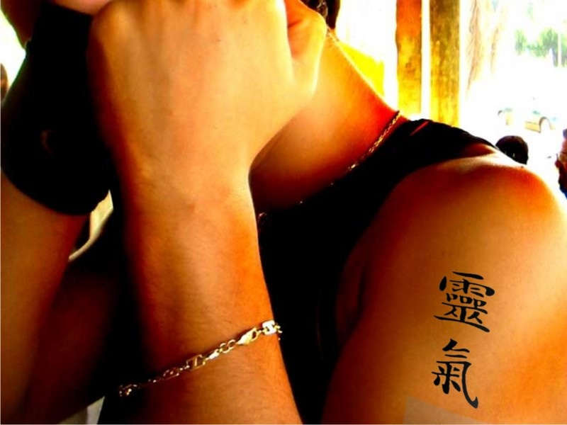 You just can't beat Kanji for tattoos. Hope this isn't saying something rude