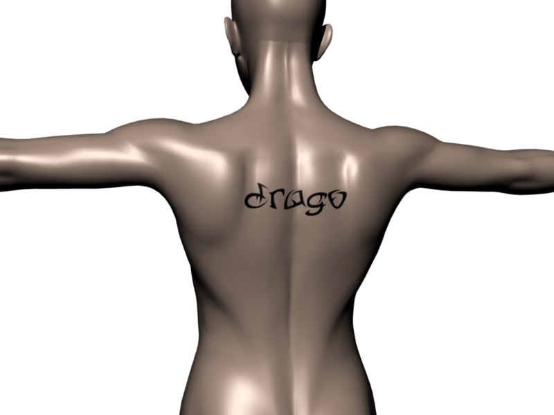 Hi, my name is Drago and this is my tattoo. Made with the Back Tattoo scene