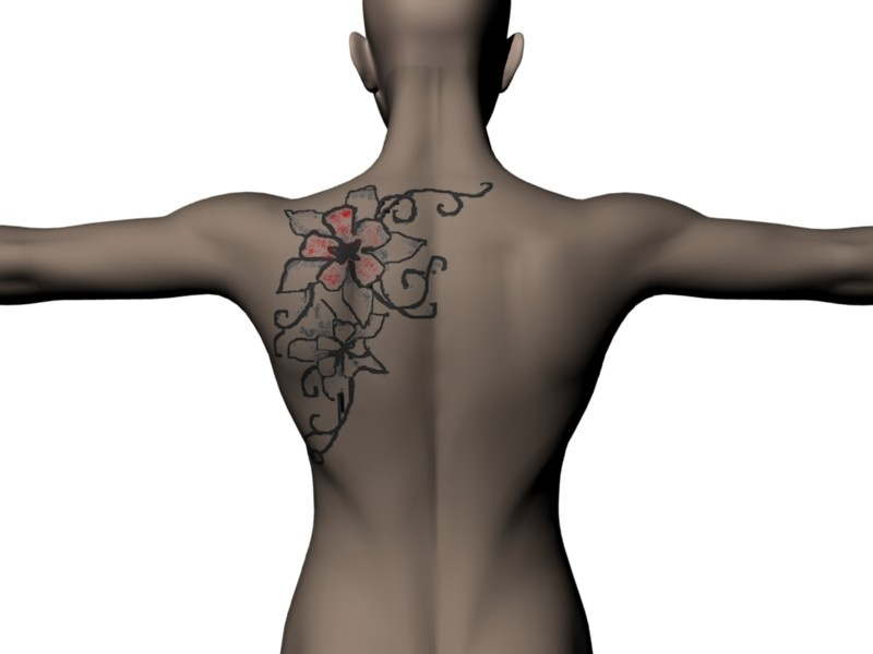 bow tattoo on back. lily of the valley tattoo designs getting a tattoo on