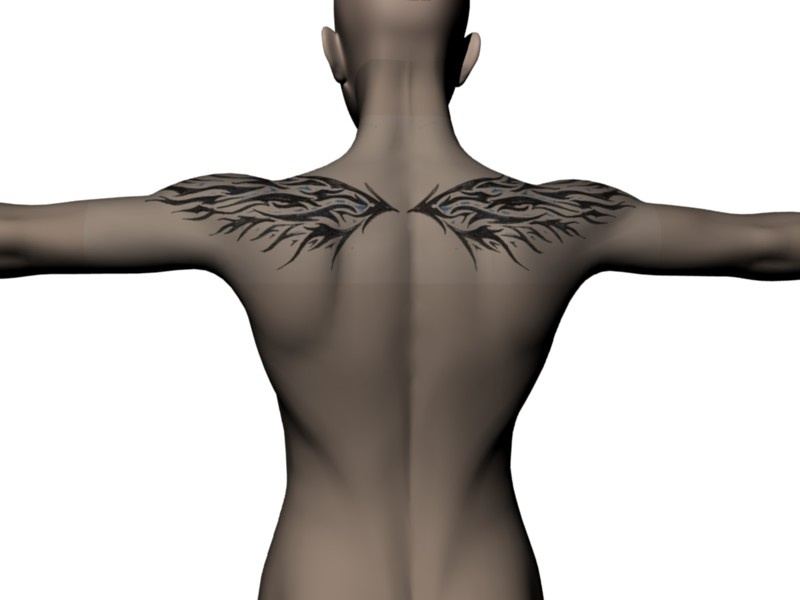 Made with the Back Tattoo scene (insert your own photo) Small wings