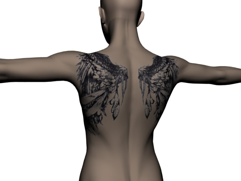 This is the best set of tattoo wings I've seen yet. Made with the Back