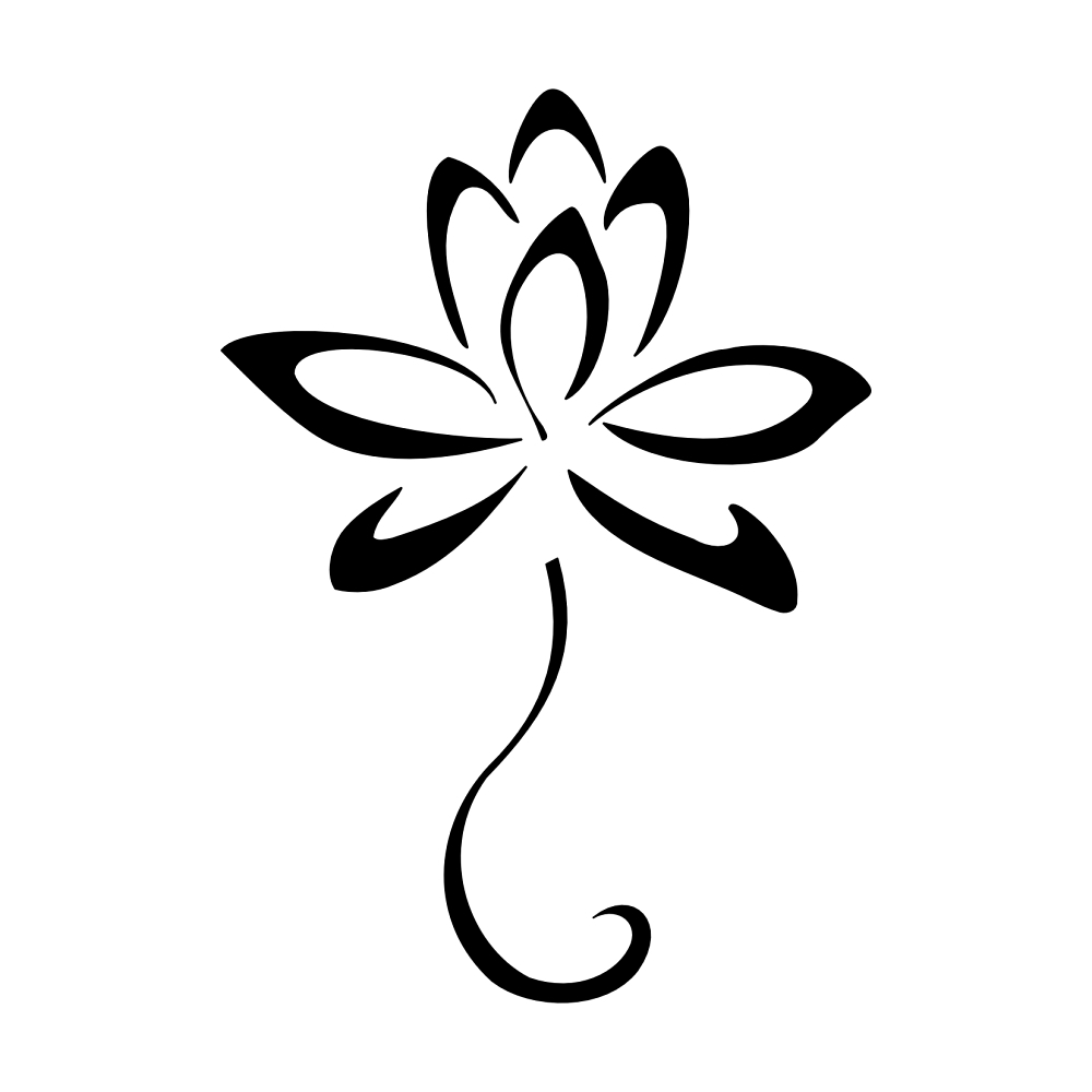 Simple Flower Back Tattoo