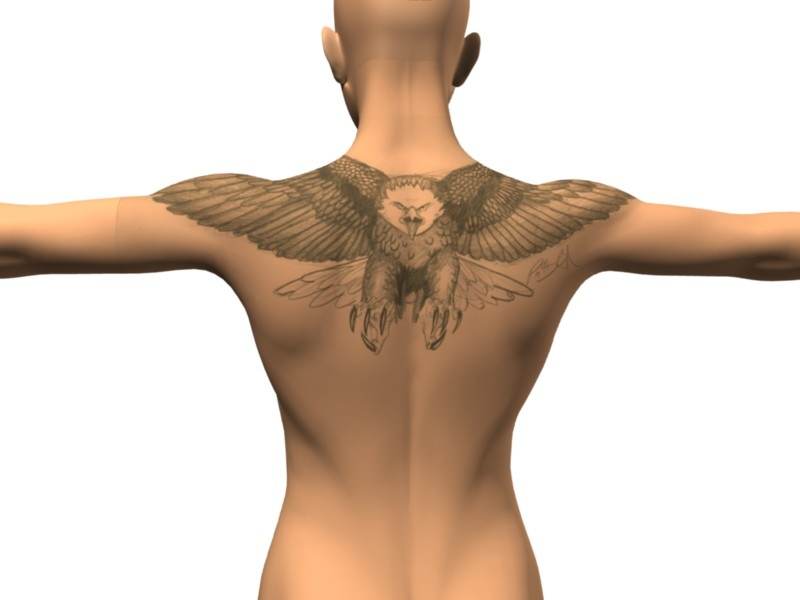 Eagle tattoo back tattoo
