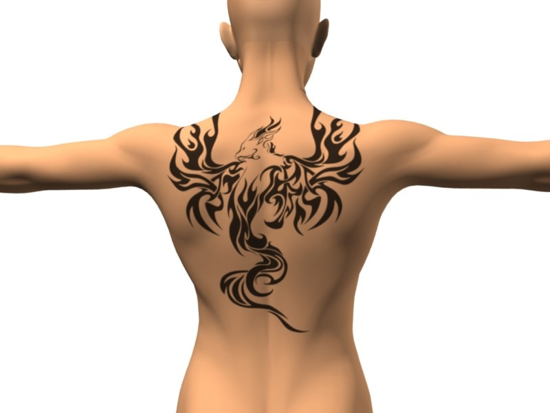 Flaming dragon : Back Tattoo The Girl With The Dragon Tattoo Poster
